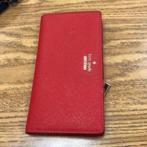 Kate spade wallet red